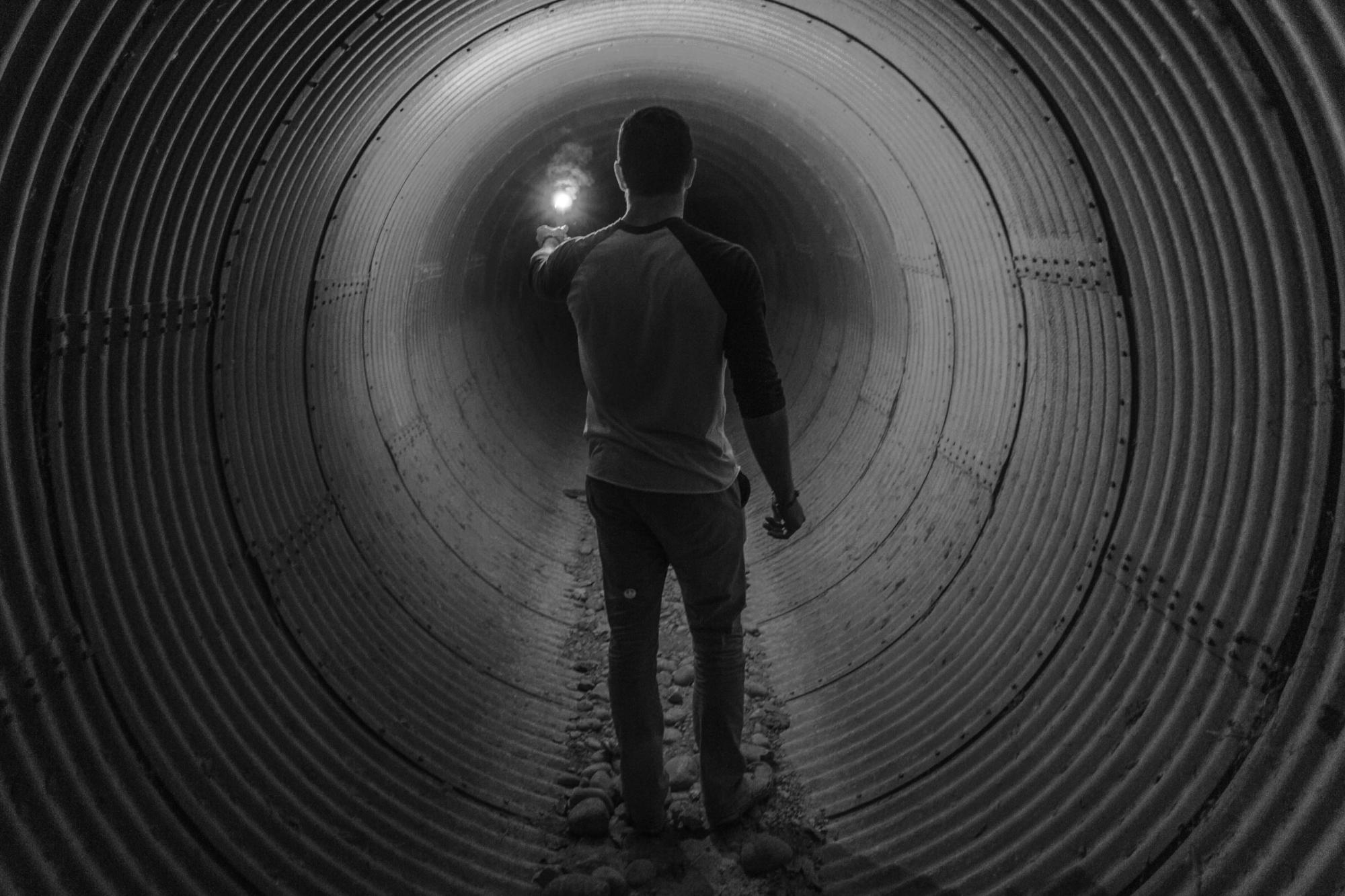 Man in a tunnel with a light at the end - Where was the virus mentioned in the Bible?